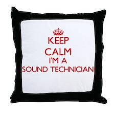 Keep calm I'm a Sound Technician Throw Pillow