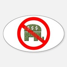 No GOP Greed Over People Oval Decal