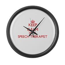 Keep calm I'm a Speech Therapist Large Wall Clock