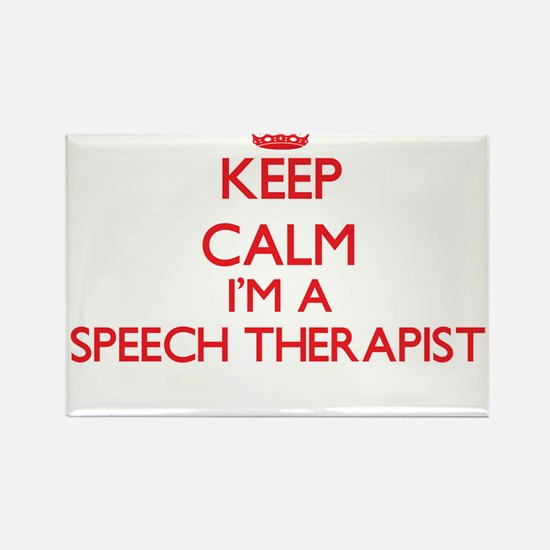 Keep calm I'm a Speech Therapist Magnets