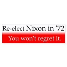 Richard Nixon Election Bumper Sticker 1972 72