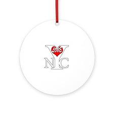 New York City Love bwr Ornament (Round)