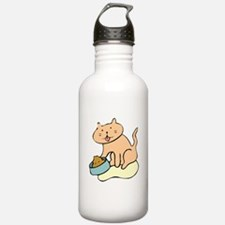 Cat And Food Water Bottle