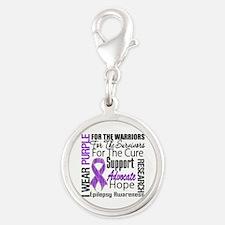 Epilepsy Silver Round Charm