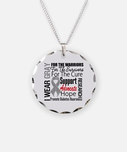 Diabetes Necklace Circle Charm
