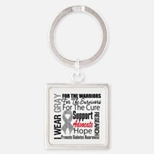 Diabetes Square Keychain