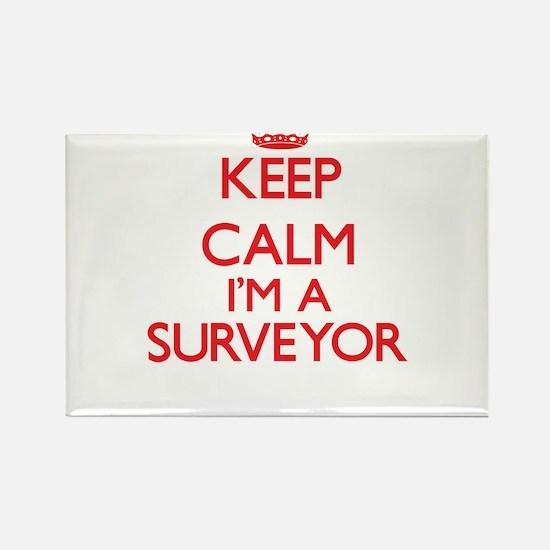 Keep calm I'm a Surveyor Magnets