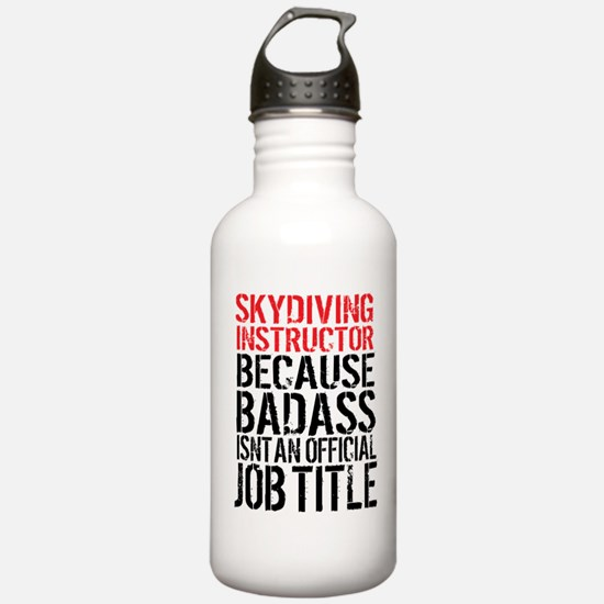 Skydiving Instructor B Water Bottle