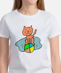 Cat And Ball T-Shirt