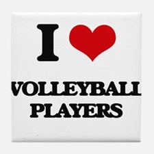 I love Volleyball Players Tile Coaster