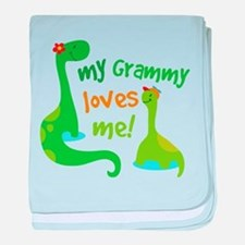 My Grammy Loves Me Dinosaur baby blanket