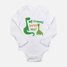 My Grammy Loves Me Din Long Sleeve Infant Bodysuit
