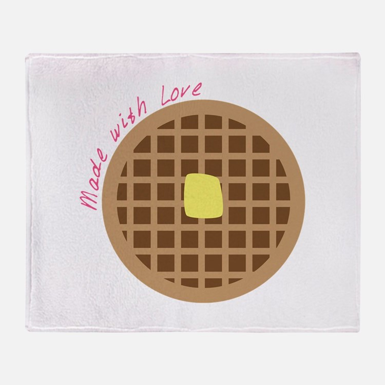 Waffle_Made With Love Throw Blanket