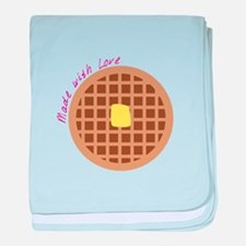 Waffle_Made With Love baby blanket