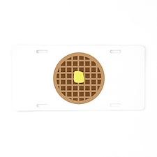 Waffle_Base Aluminum License Plate