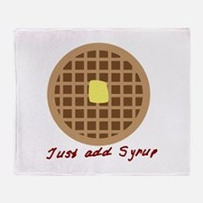 Waffle_Just Add Syrup Throw Blanket