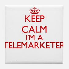 Keep calm I'm a Telemarketer Tile Coaster