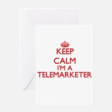 Keep calm I'm a Telemarketer Greeting Cards