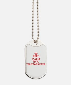 Keep calm I'm a Telemarketer Dog Tags