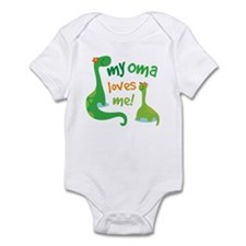 My Oma Loves Me Dinosaur Infant Bodysuit
