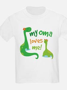 My Oma Loves Me Dinosaur T-Shirt