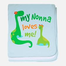 My Nonna Loves Me Dinosaur baby blanket