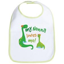 My Nonna Loves Me Dinosaur Bib