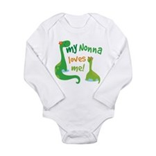 My Nonna Loves Me Dino Long Sleeve Infant Bodysuit