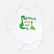 My Nonna Loves Me Dino Long Sleeve Infant Bodysuit