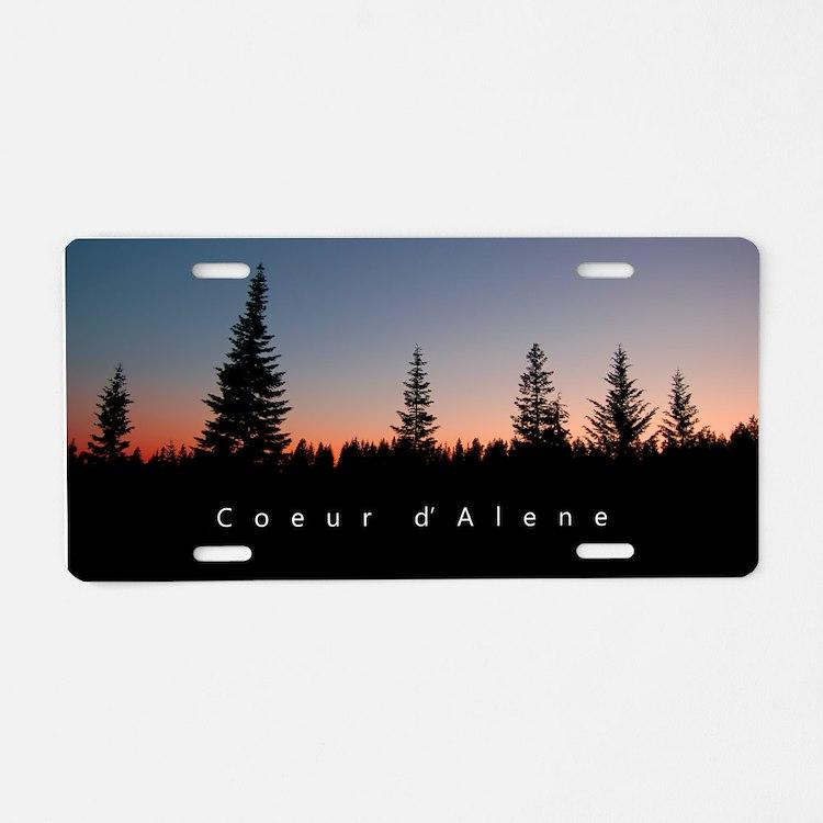 Idaho: Coeur d'Alene Aluminum License Plate