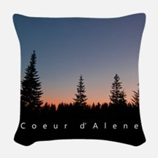 Idaho: Coeur d'Alene Woven Throw Pillow