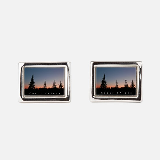 Idaho: Coeur d'Alene Rectangular Cufflinks