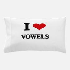 I love Vowels Pillow Case