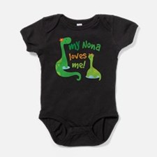 My Nona Loves Me Dinosaur Baby Bodysuit