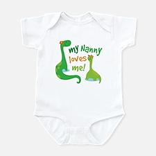 My Nanny Loves Me Dinosaur Infant Bodysuit