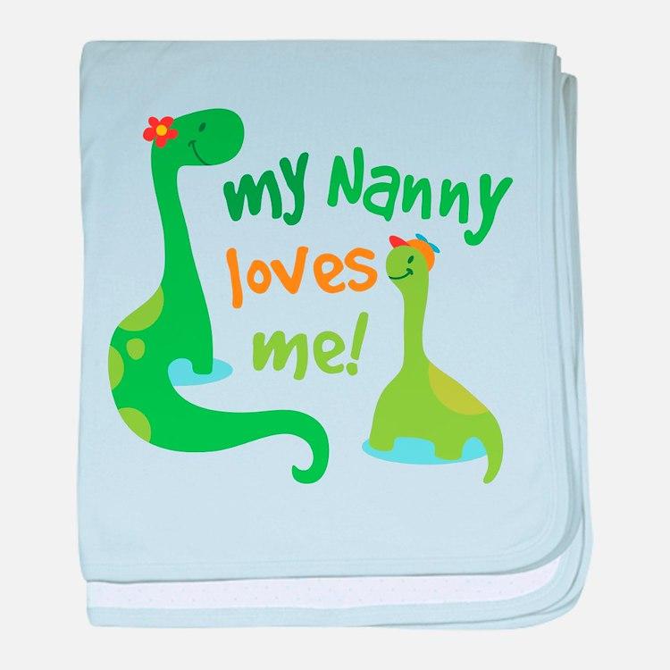 My Nanny Loves Me Dinosaur baby blanket