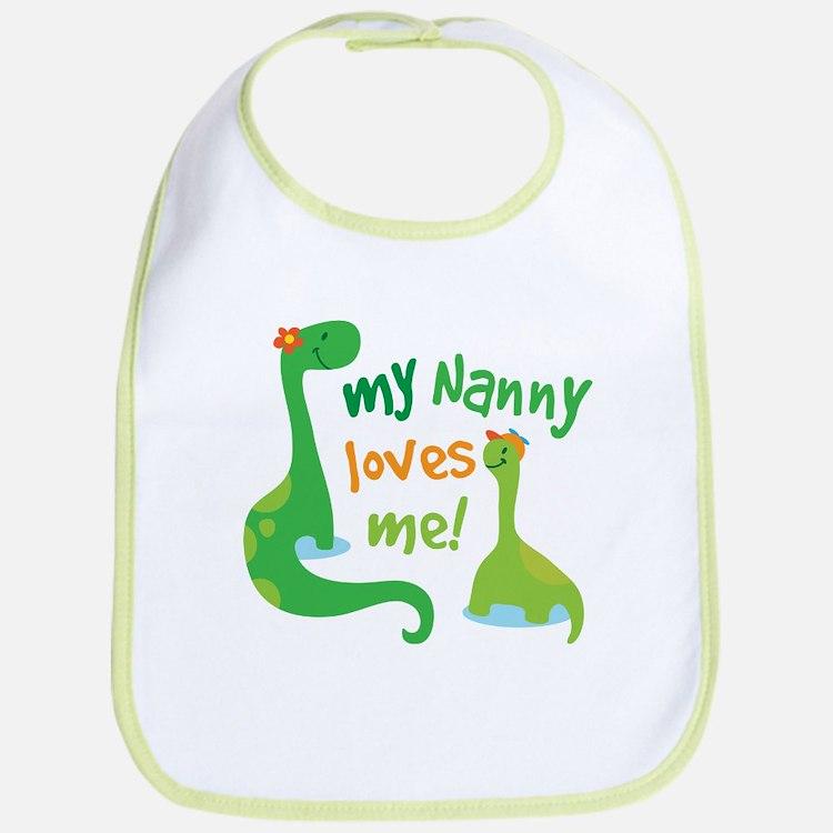 My Nanny Loves Me Dinosaur Bib