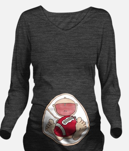 Baby In Belly Football Razorbacks.png T-Shirt