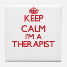Keep calm I'm a Therapist Tile Coaster