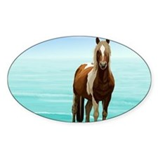 Chincoteague Paint Pony at Surf's Edge Decal