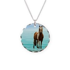 Chincoteague Paint Pony at S Necklace Circle Charm