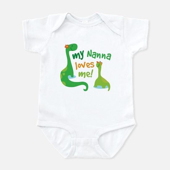 My Nanna Loves Me Dinosaur Infant Bodysuit