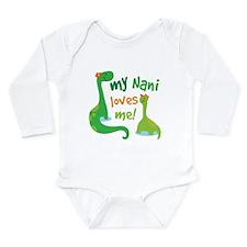 My Nani Loves Me Dinos Long Sleeve Infant Bodysuit