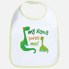 My Nana Loves Me Dinosaur Bib