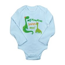 My MomMom Loves Me Din Long Sleeve Infant Bodysuit