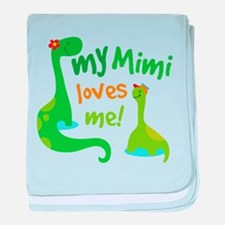 My Mimi Loves Me Dinosaur baby blanket