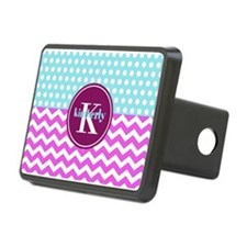 Aqua and Pink Chevron Polk Hitch Cover