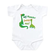 My Memaw Loves Me Dinosaur Infant Bodysuit