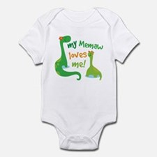 My Memaw Loves Me Dinosaur Infant Bodysuit