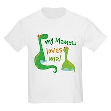 My Memaw Loves Me Dinosaur T-Shirt